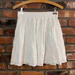 dELiA*s White Elastic Waist A-line Mini Skirt